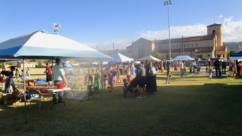 Parishioners Gather for All Saints Day Party